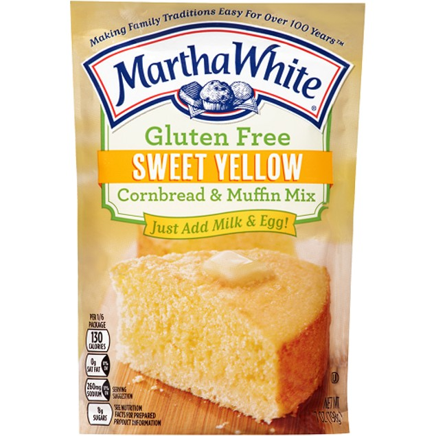 Martha White Gluten Free Sweet Yellow Cornbread & Muffin Mix