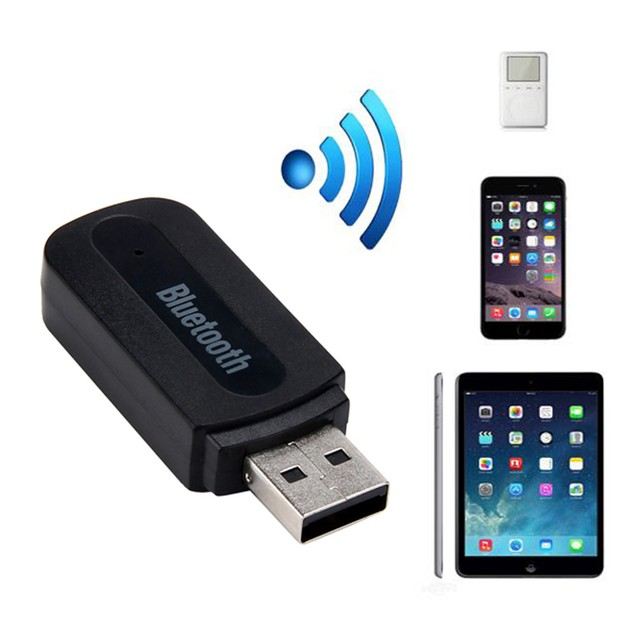 USB Bluetooth Music Receiver Adapter 3.5mm Stereo Audio For iPhone