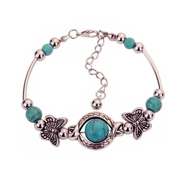 Novadab Butterfly Mystery Turquoise Bracelet