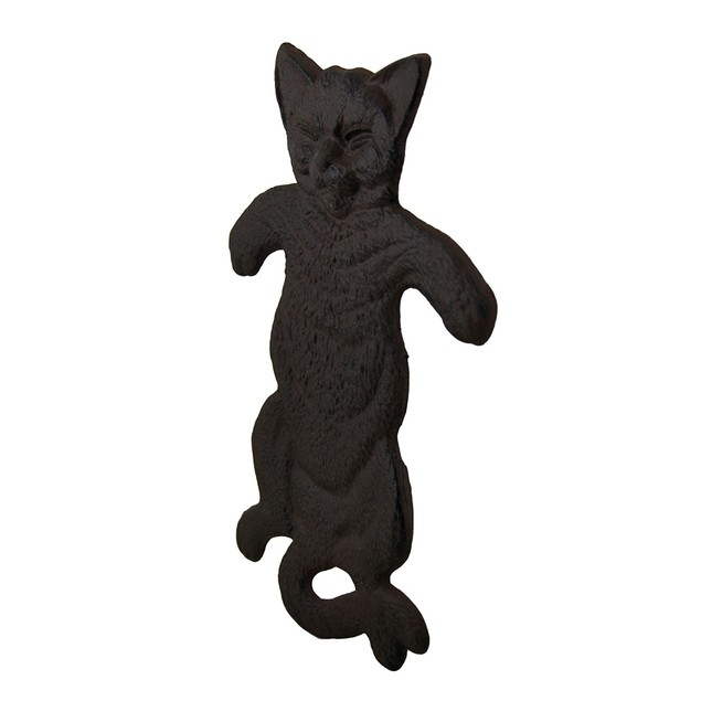 Rustic Brown Flat Cast Iron Cat Decorative Step Stepping Stones