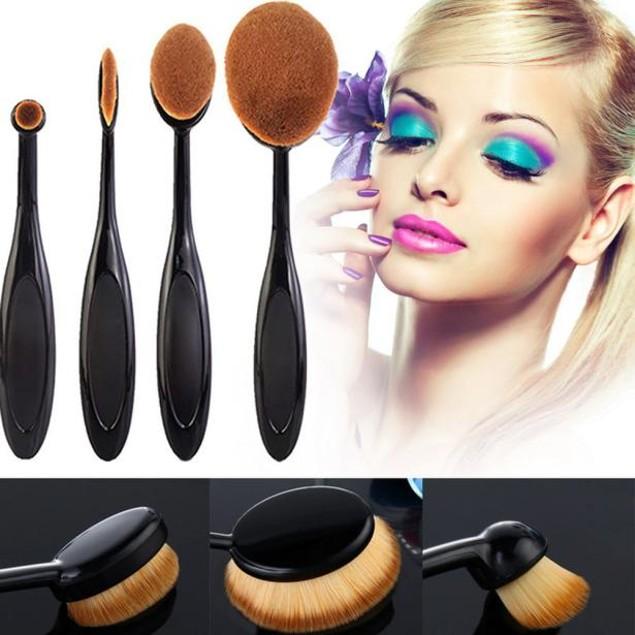4-Piece Makeup Brushes