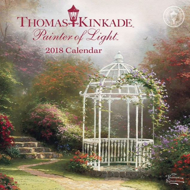 Kinkade Painter of Light Mini Wall Calendar, Kinkade by Calendars