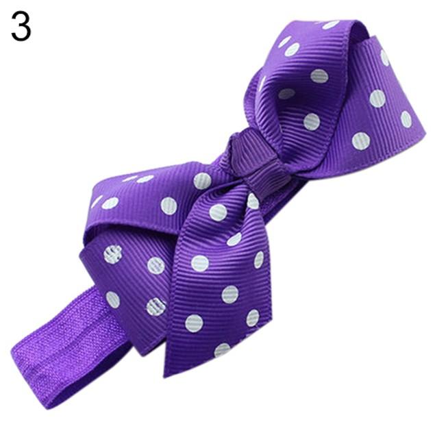 Baby Girl Cute Polka Dot Ribbon Bows Headband