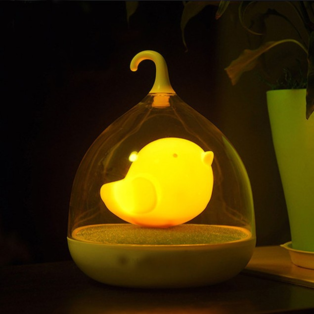 LED Nightlight Lamp Touch Sensor Bird Light Home Decor Bedroom