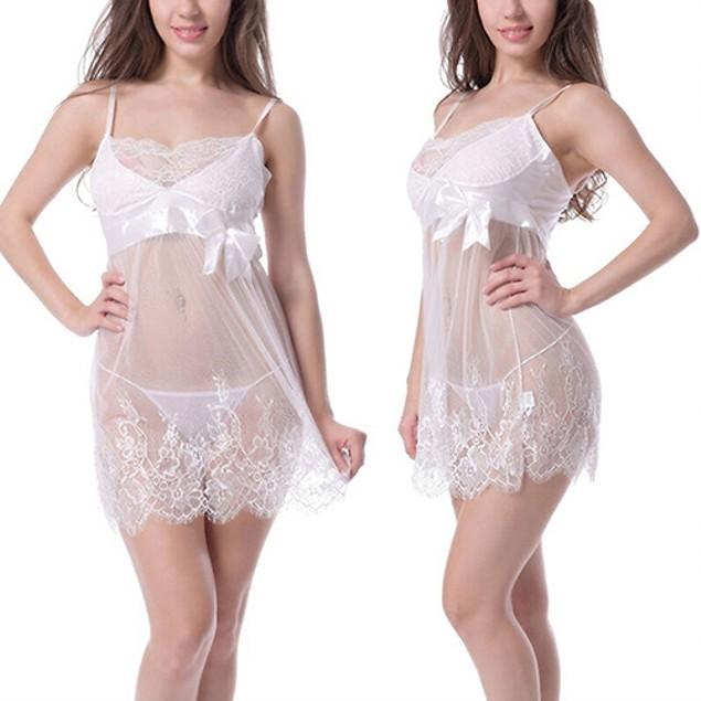 Sexy Lace Lingerie Dress Babydoll Sleepwear