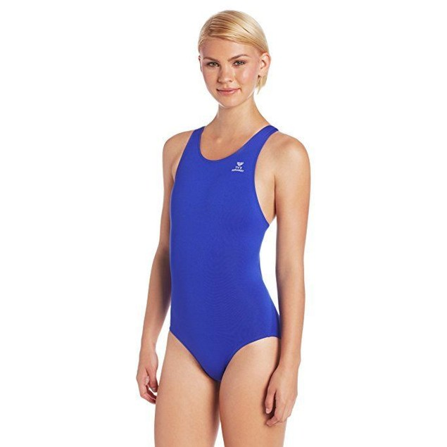 TYR Women's Durafast Elite Solid Maxfit Swimsuit Sz 32