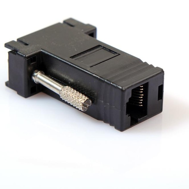VGA Extender Male Female to LAN RJ45 CAT5 CAT6 Network Cable Adapter