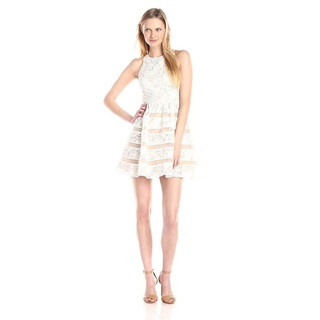Aidan by Aidan Mattox Women's Sleeveless Lace Cocktail Party Dress SZ:
