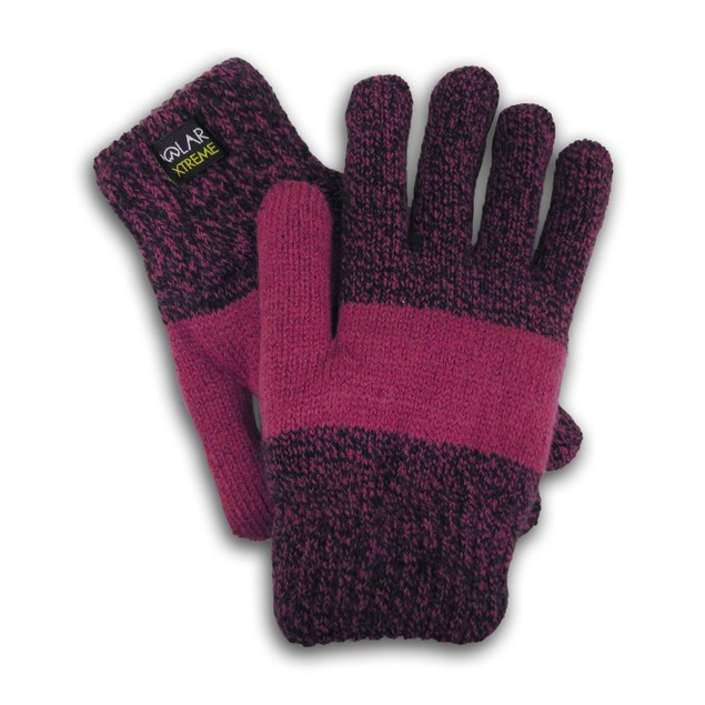 Women's Insulated Gloves Knit Winter Gloves Thermal Insulation Warm