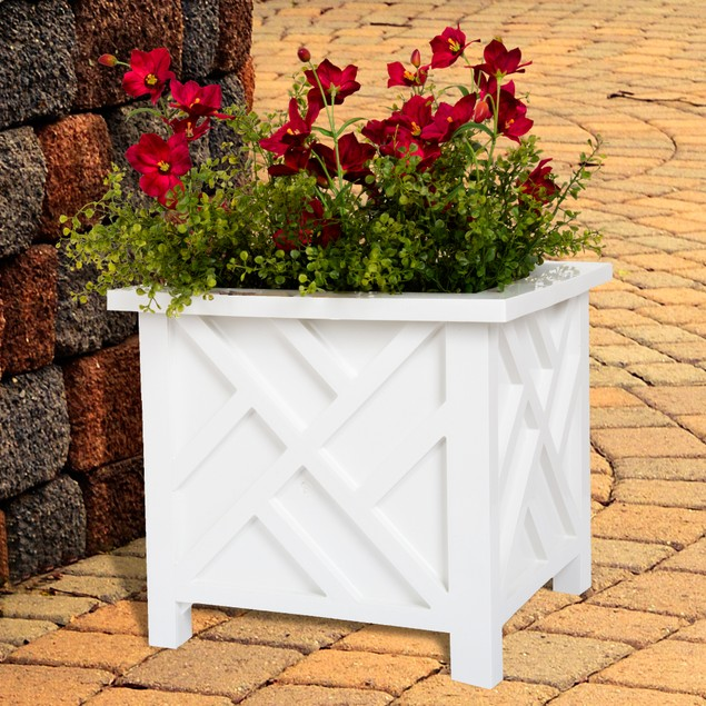 Pure Garden Box Planter - White