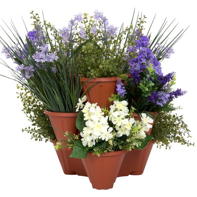Set of 3 Pure Garden Stackable Planters