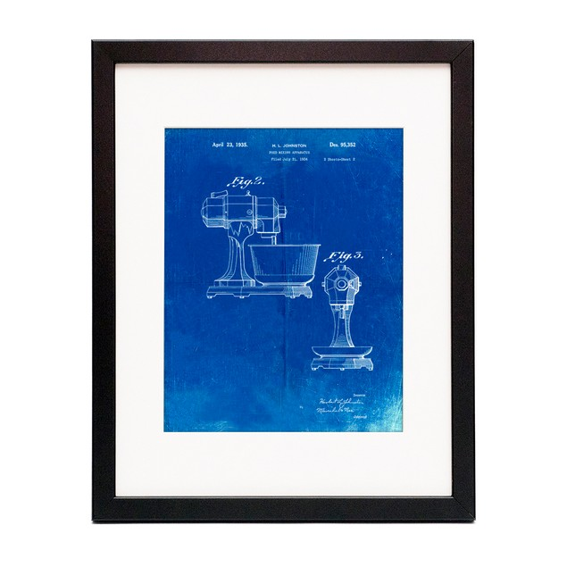 Kitchen Mixer Patent Poster
