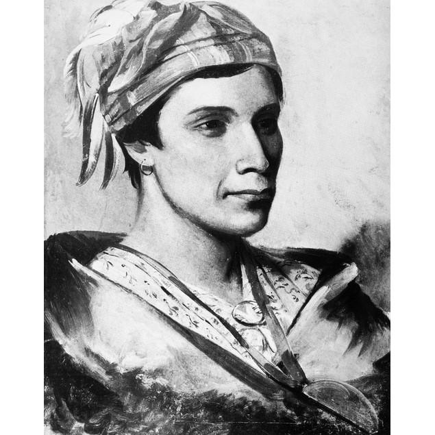 Catlin: Oneida Chief, 1830. /Nbread, An Oneida Iroquois Chief. Oil On Canva