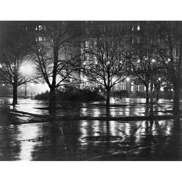 Stieglitz: New York, C1897. /Nlight Reflections In A Park At Night, New Yor