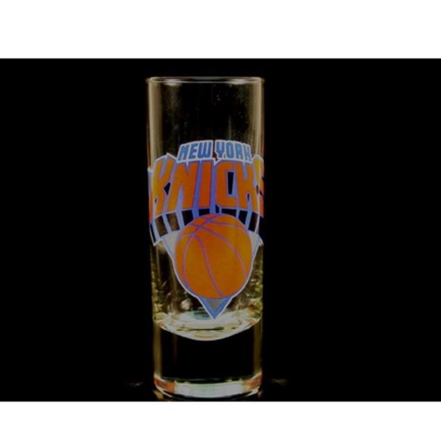 """New York Knicks NBA """"Hype"""" Tall Shot Glass"""