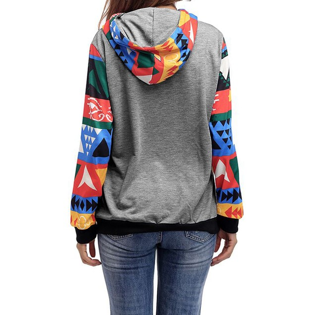 Womens Casual Hooded Sweatshirt Pullover Hoodie Coat Outerwear Tops Blouse