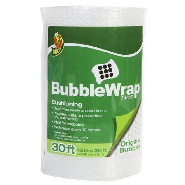 Duck Brand Bubble Wrap Bubble Cushioning Wrap 12in X 30 Feet