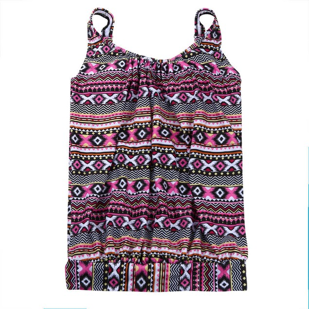 Women Plus Size Printed Tankini Bikini Swimwear Swimsuit Bathing Suit