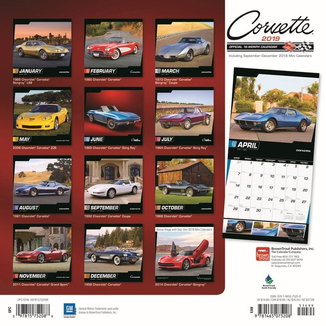 Corvette Wall Calendar, Corvette by Calendars