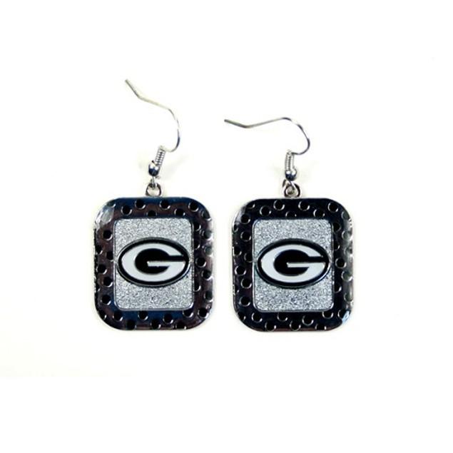 Green Bay Packers NFL Polka Dot Style Dangle Earrings