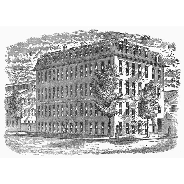 Jewelry Factory, C1880. /Nfoster And Bailey'S Jewelry Works, Corner Of Rich