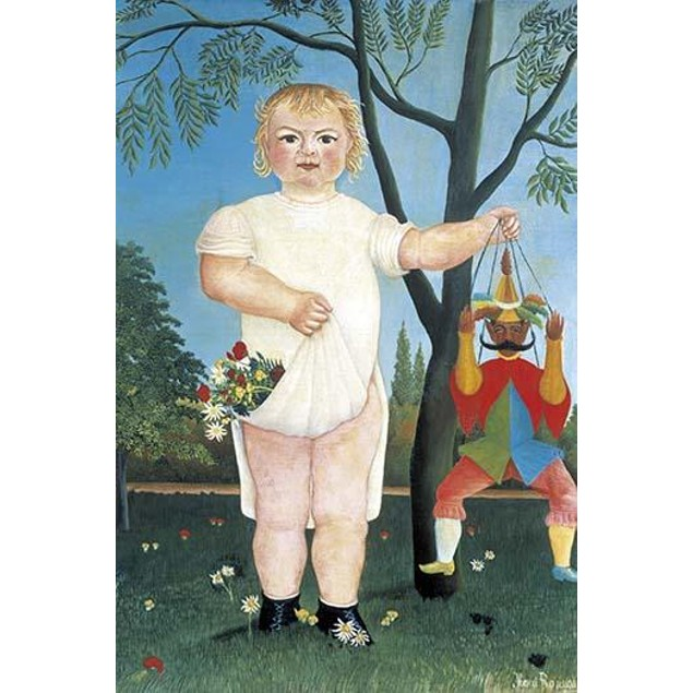 Child with Puppet.  High quality vintage art reproduction by Buyenlarge.  O