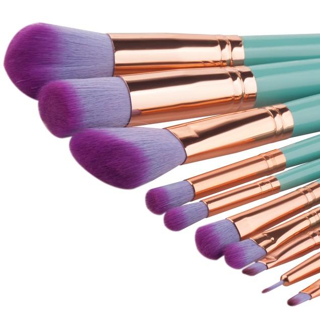 10PCS  Make Up Eyebrow Eyeliner Blush Cosmetic Concealer Brushes