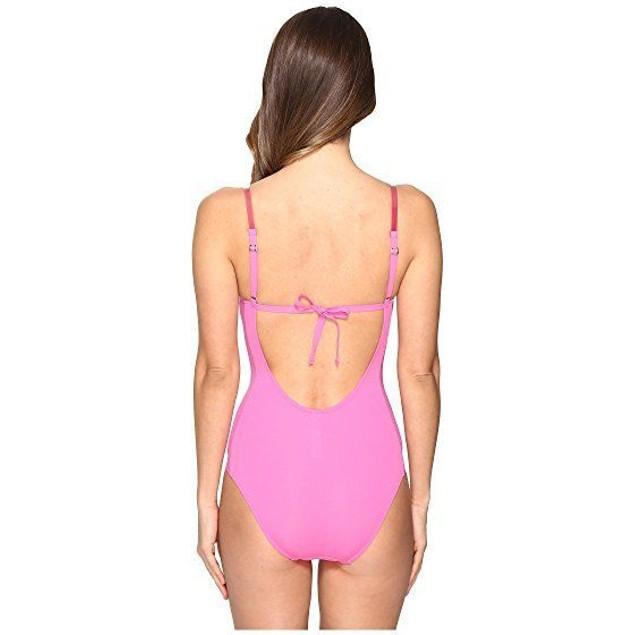 La Perla Women's Plastic Dream One Piece w/ Wire Dark Pink Swimsuit SZ