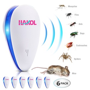 6-Pack Ultrasonic Pest Repeller - Repellant For Mice & Insects