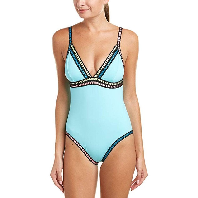 La Blanca Women's Threading Along Over The Shoulder Mio Ice Blue Swims