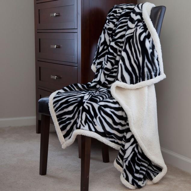 Lavish Home Fleece Animal Print Throw