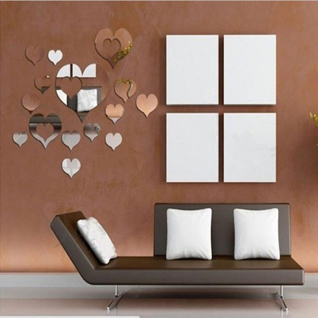 Home 3D Removable Heart Art Decor Wall Stickers Living Room Decoration