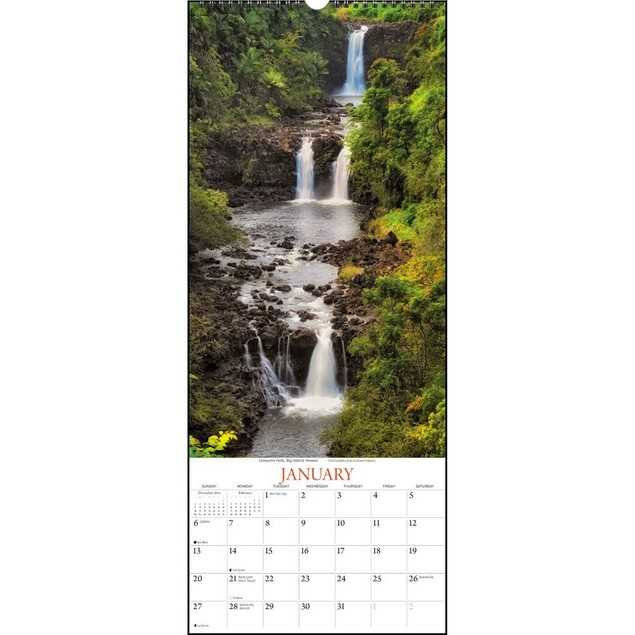 Falling Waters Wall Calendar, Nature by Calendars