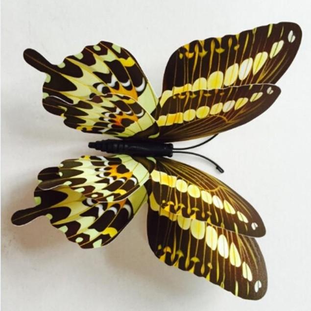 12-Piece 3D Magnetic Butterfly Art