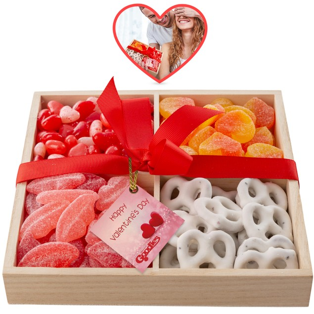 Peach Hearts, Chocolate Covered Pretzels, Sweet Lips, Salt Water Taffy