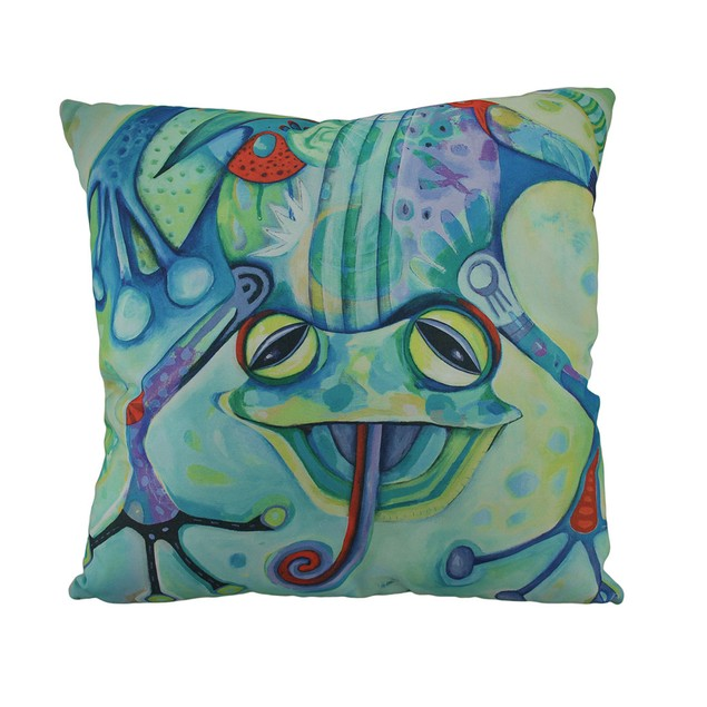 Allen Designs Curly The Funny Frog Decorative Throw Pillows