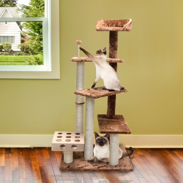 Cat Play Stairs with Cat-IQ Busy Box