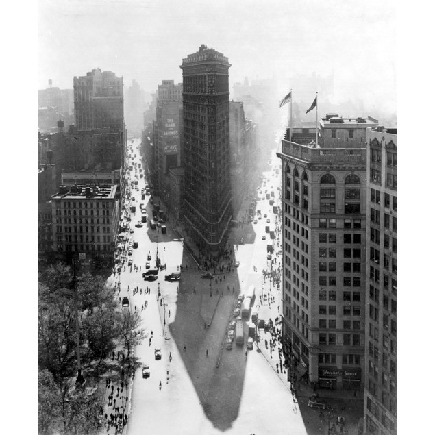 New York: Flatiron, C1940. /Nthe Flat-Iron Building, C1940. Poster