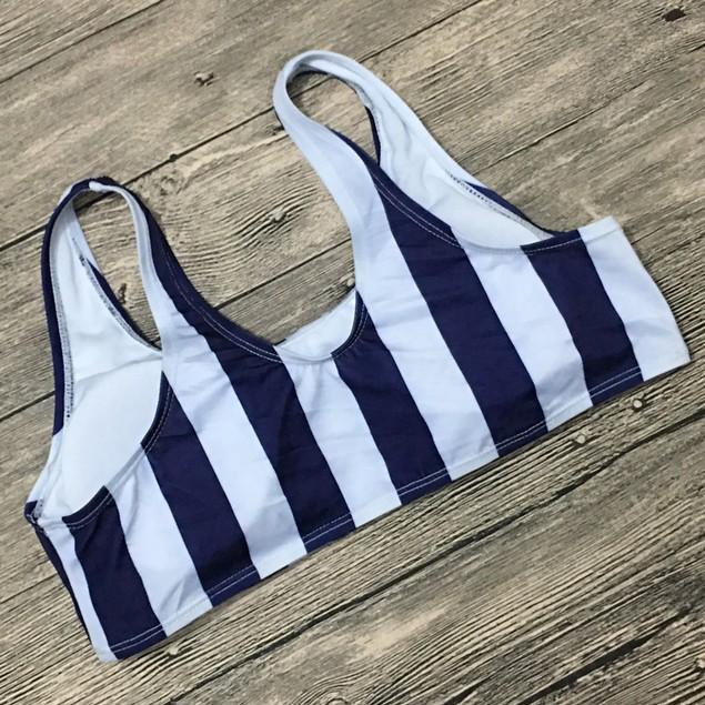Women's Striped Bikini Beachwear Swimsuit Push-up Swimwear