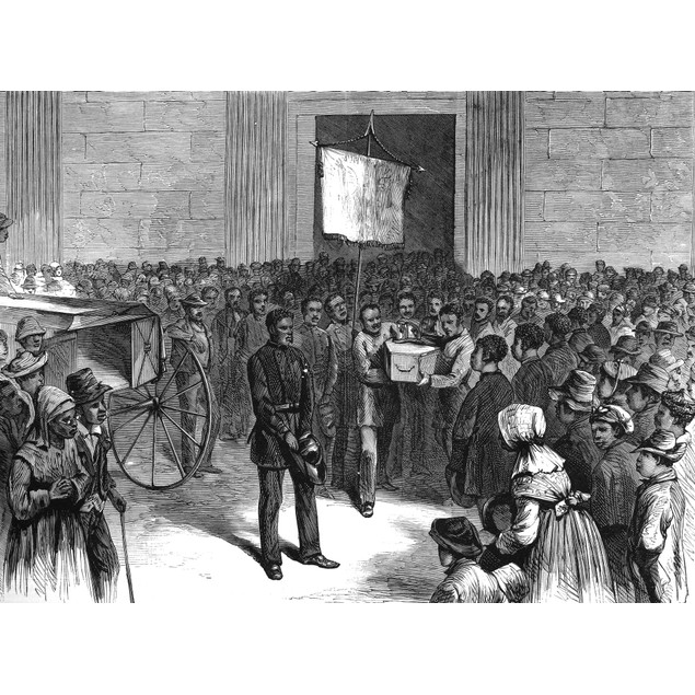 Fireman'S Funeral, 1871. /Nthe Funeral Of A African American Fireman At Cha