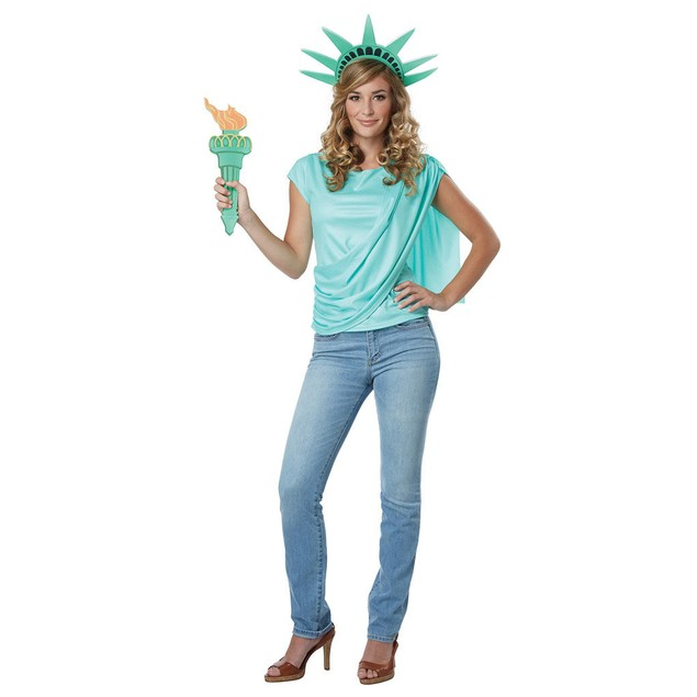 Miss Liberty Statue of USA United States of America Shirt Crown Torch