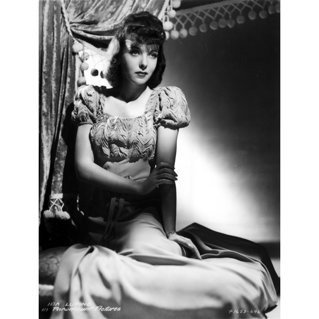 Ida Lupino on a Puff Sleeve sitting and posed Poster