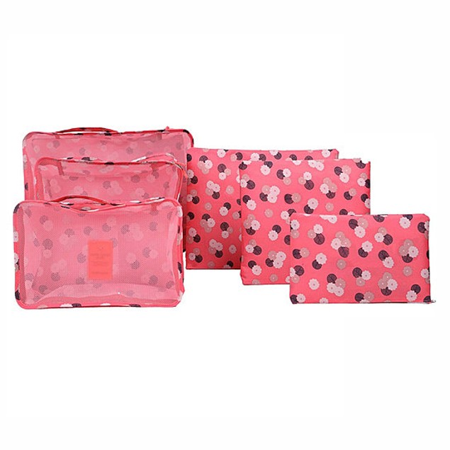 6pc Set Lightweight Travel Storage Bags-Pick From 4 Colors