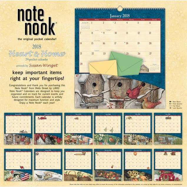 Susan Winget Heart & Home Pocket Wall Calendar, Susan Winget by Avalanche