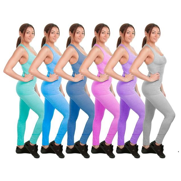 2-Piece Women's Athletic Workout Yoga Legging & Sports Bra Set