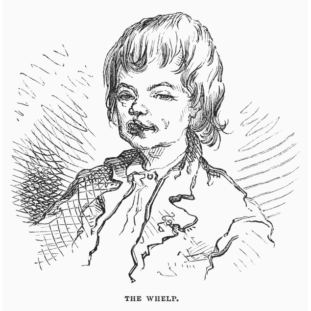 Children: Types. /N'The Whelp.' Wood Engraving, American, 1876, After David