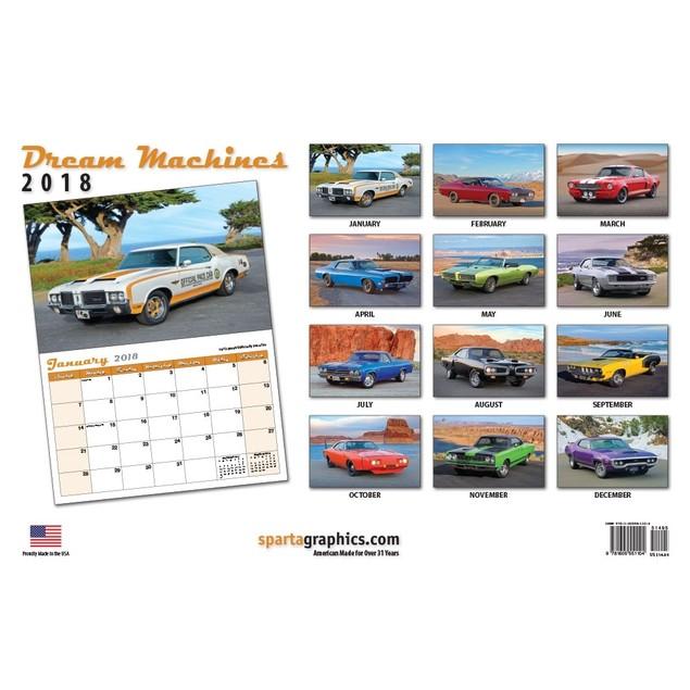Dream Machines Muscle Car Ed Wall Calendar
