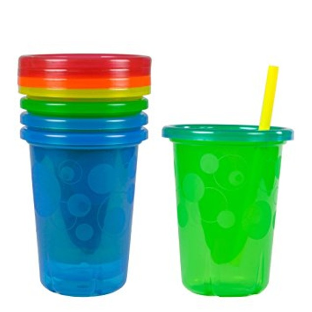 The First Years Take & Toss Spill-Proof Straw Cups 10oz, 4pk