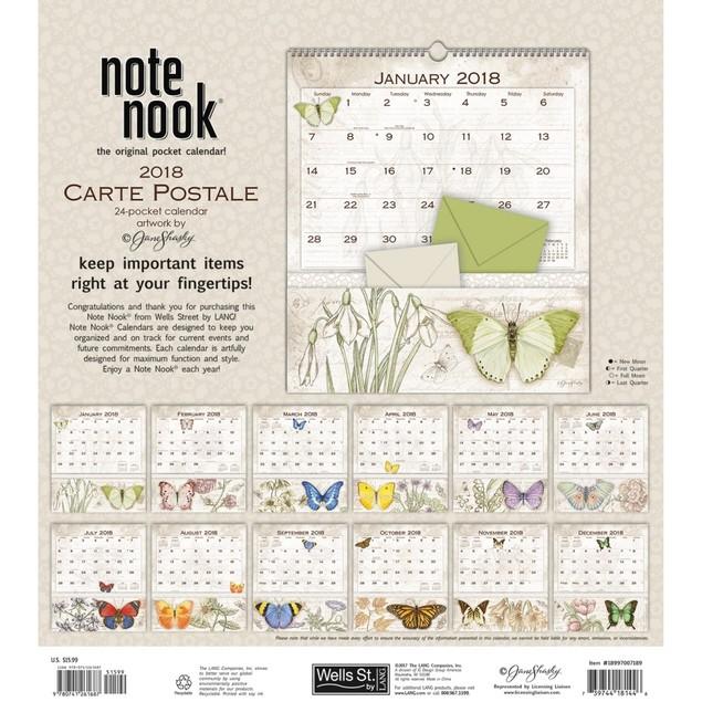 Jane Shasky Carte Postale Pocket Wall Calendar