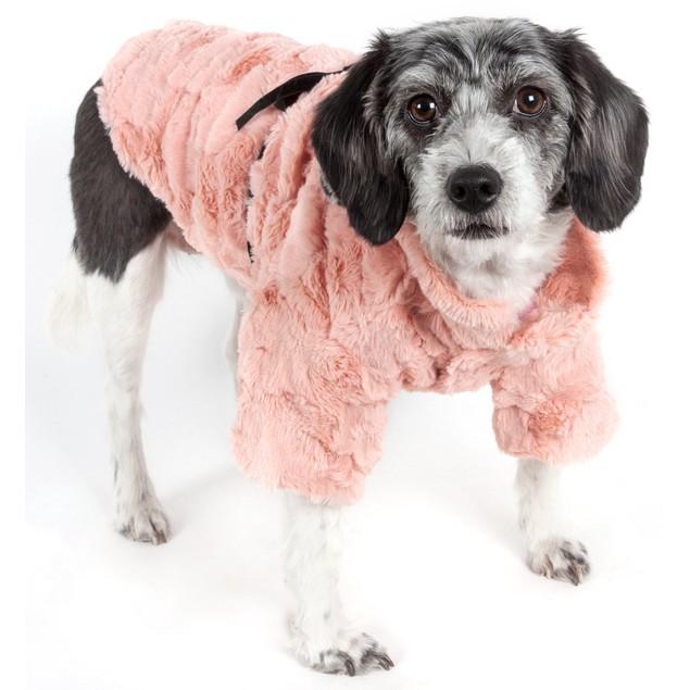 Pink-Mink' Luxury Designer Pet Coat